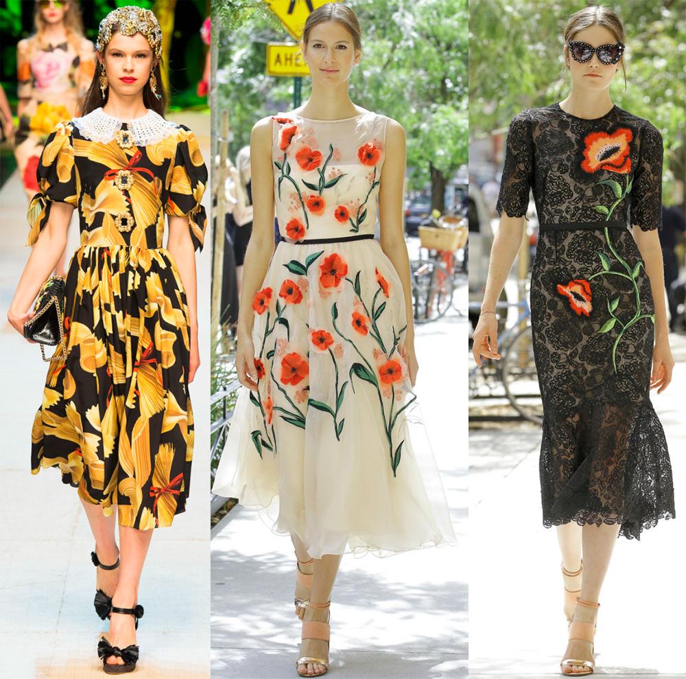 Платье с орнаментом в моде